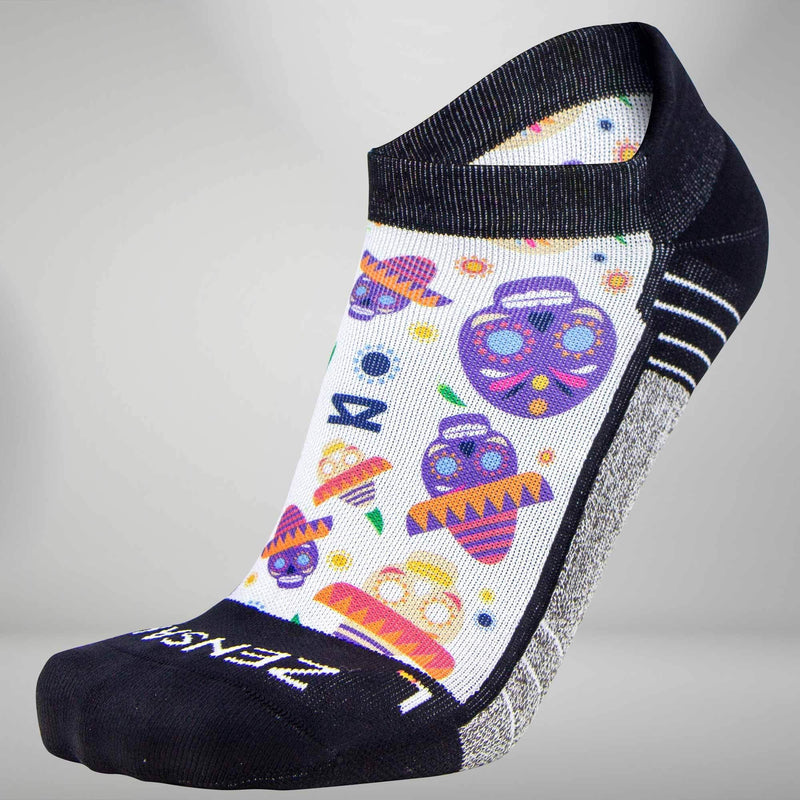Day Of The Dead Doodle Socks (No Show)