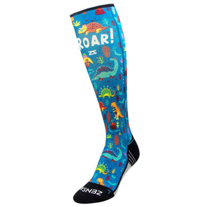 Dinosaurs Compression Socks (Knee-High)Socks - Zensah