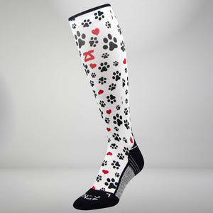 Paw Prints Compression Socks (Knee-High)