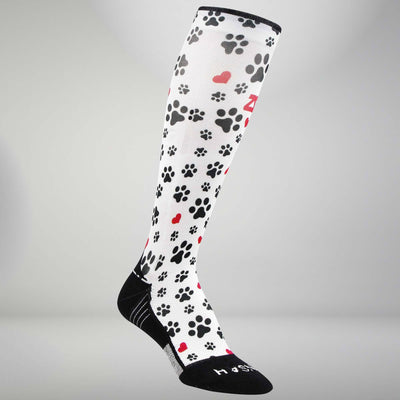Paw Prints Compression Socks (Knee-High)Socks - Zensah