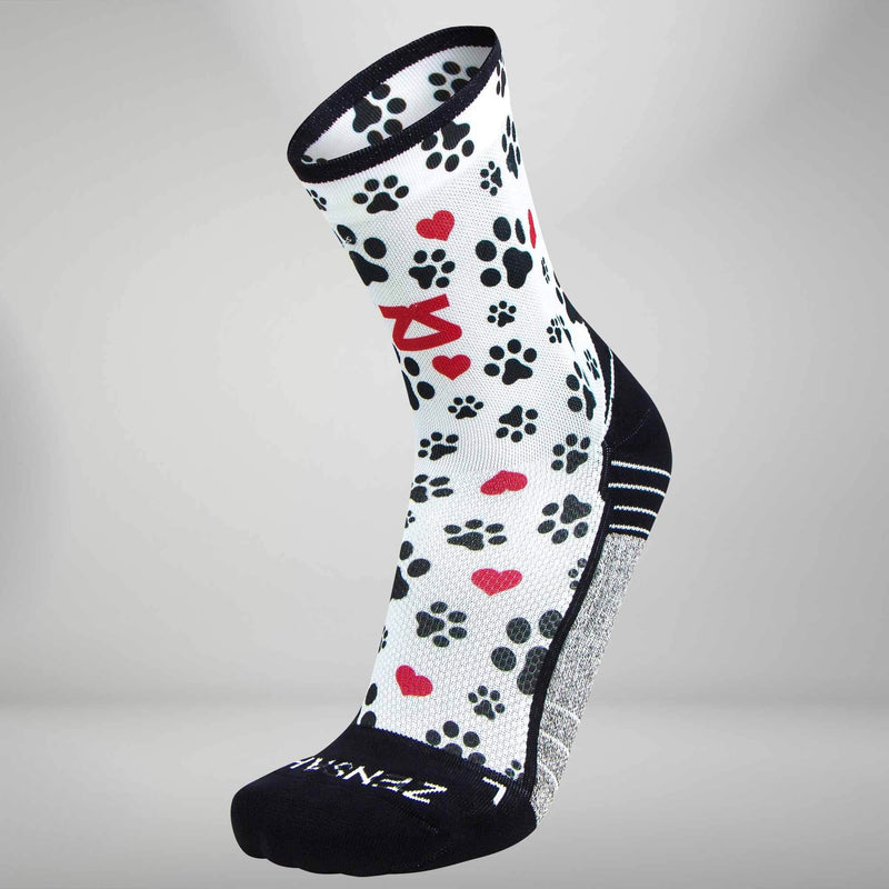 Paw Prints Socks (Mini-Crew)