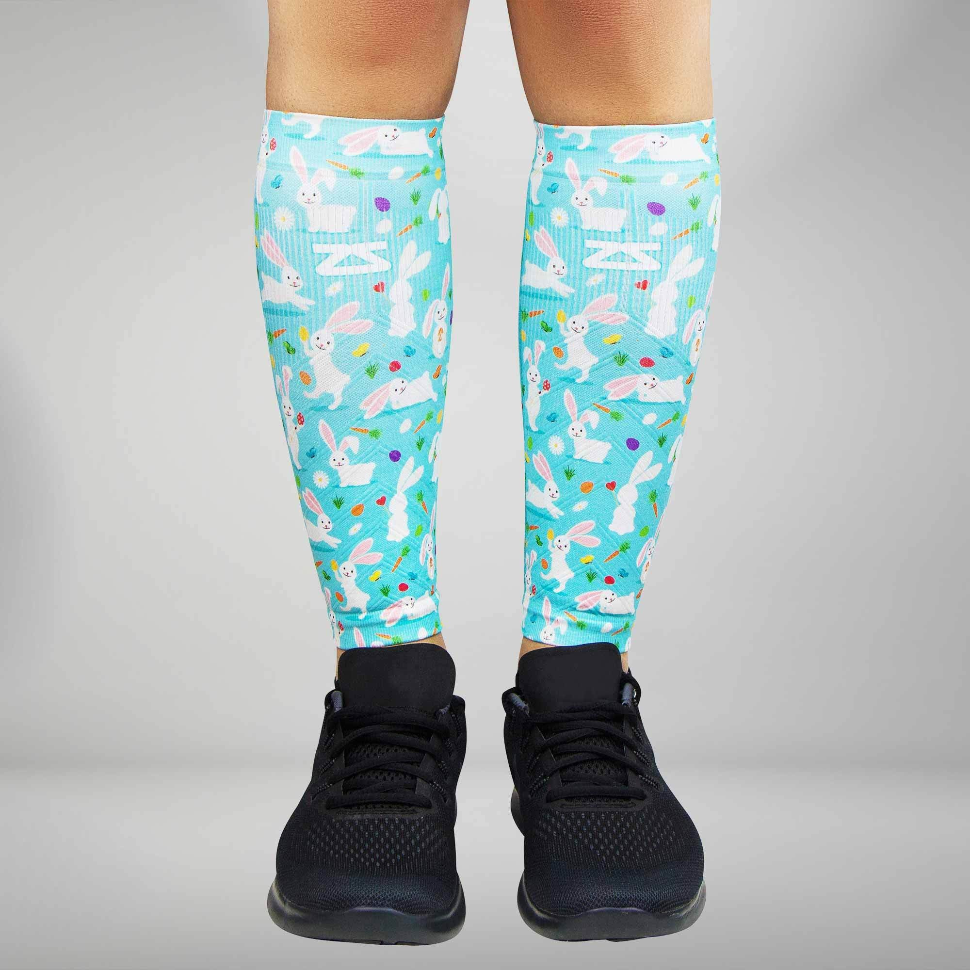 Happy Bunnies Compression Leg Sleeves