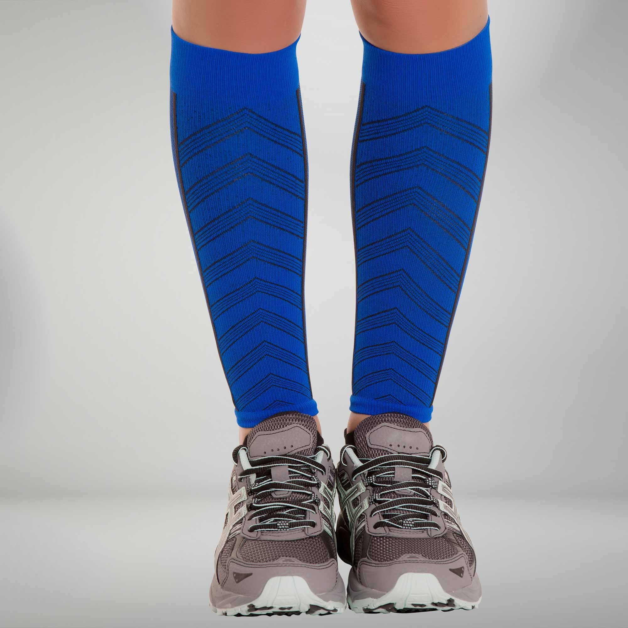 Blue in Color Size S//M NEW ZENSAH Compression Leg Sleeves Stockings