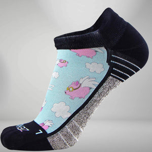 Flying Pigs Socks (No Show)
