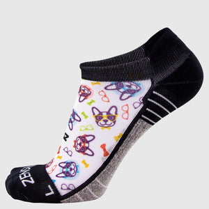 French Bulldogs Running Socks (No Show)