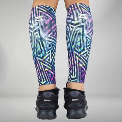 Geo Maze Compression Leg Sleeves