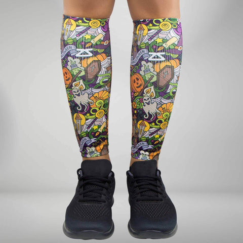 Halloween Collage Compression Leg Sleeves