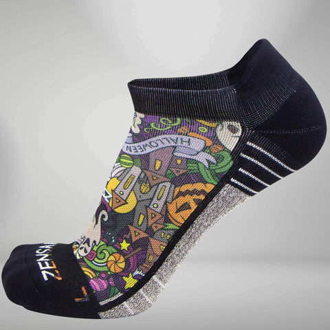 Halloween Collage Socks (No Show)