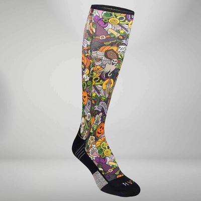 Halloween Collage Compression Socks (Knee-High)Socks - Zensah