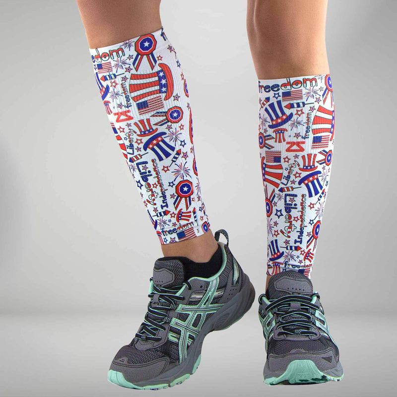 Independence Doodle Compression Leg Sleeves