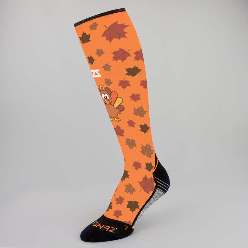 Leafy Turkey Compression Socks (Knee-High)