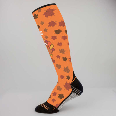 Leafy Turkey Compression Socks (Knee-High)Socks - Zensah