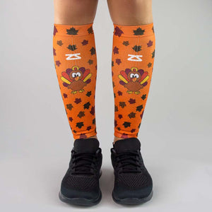 Leafy Turkey Compression Leg Sleeves
