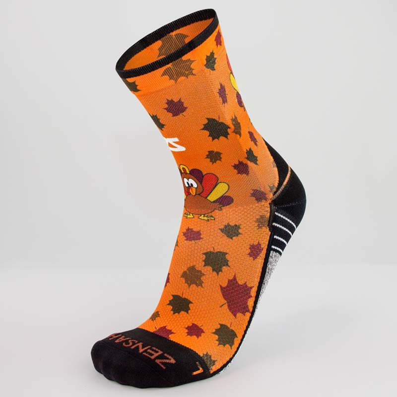 Leafy Turkey Socks (Mini Crew)