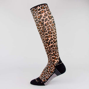 Leopard Compression Socks (Knee-High)Socks - Zensah