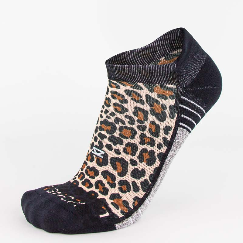 Leopard Running Socks (No Show)