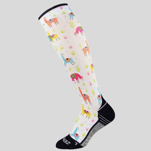 Llamas Compression Socks (Knee-High)