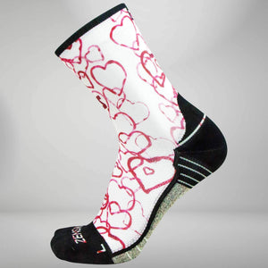 Abstract Hearts Socks (Mini Crew)