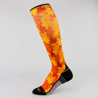 Maple Leaves Compression Socks (Knee-High)