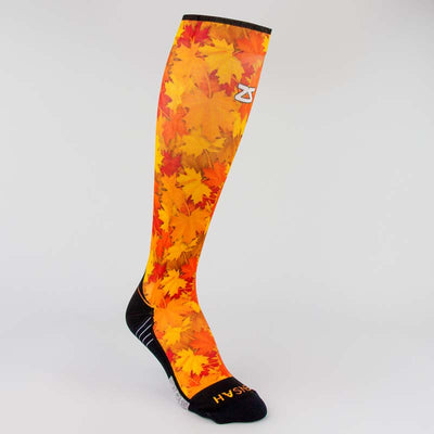 Maple Leaves Compression Socks (Knee-High)Socks - Zensah