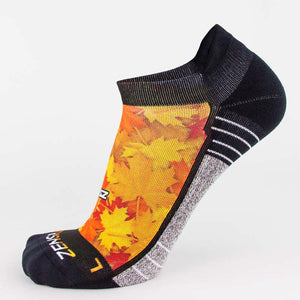 Maple Leaves Running Socks (No Show)