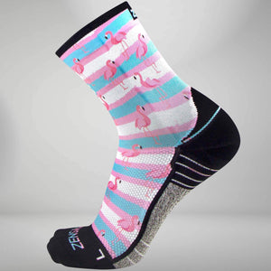 Summer Flamingo Socks (Mini-Crew)