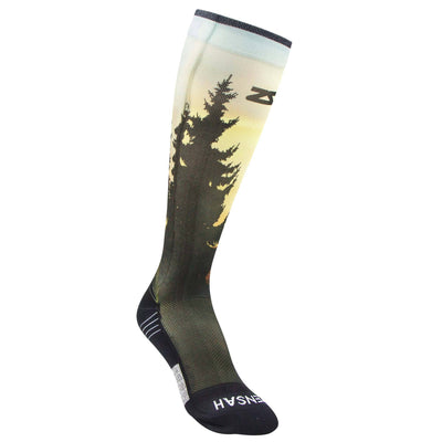 Mountain Sunset Compression Socks (Knee-High)
