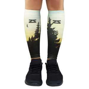 Mountain Sunset Compression Leg Sleeves