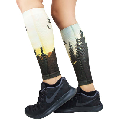 Mountain Sunset Compression Leg SleevesLeg Sleeves - Zensah