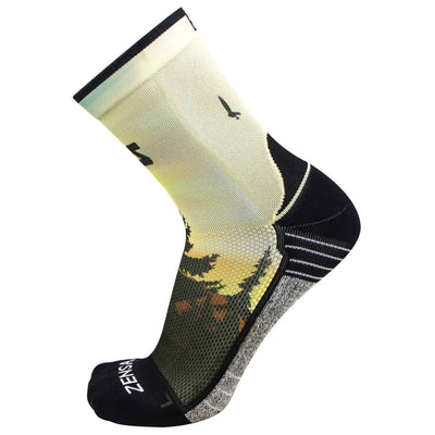 Mountain Sunset Socks (Mini-Crew)