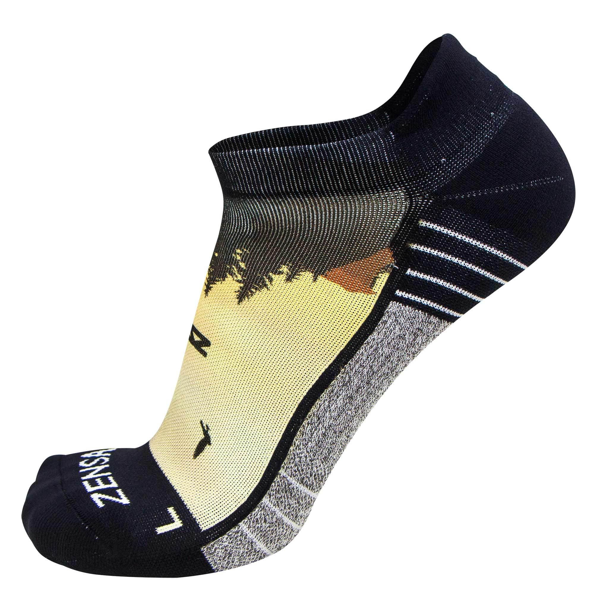 Mountain Sunset Socks (No Show)
