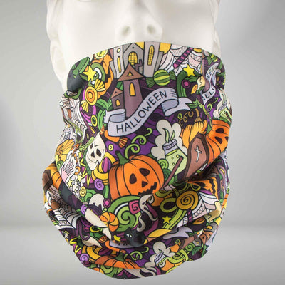 Halloween Collage Multi-Use Neck Gaiter & Headwear - Zensah