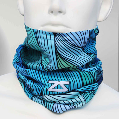 Abstract Waves Multi-Use Neck Gaiter & Headwear - Zensah