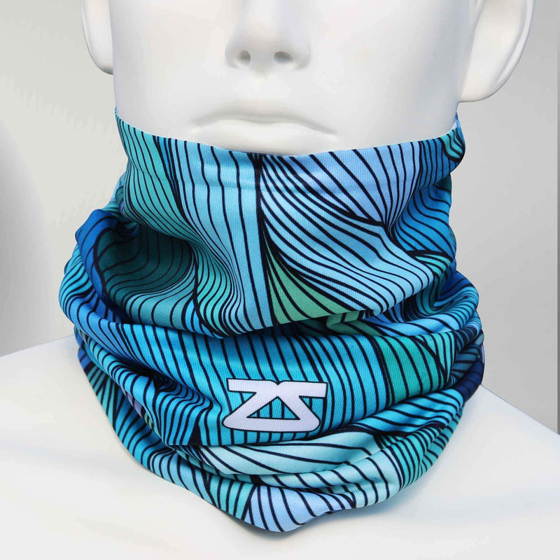 Abstract Waves Multi-Use Neck Gaiter & Headwear