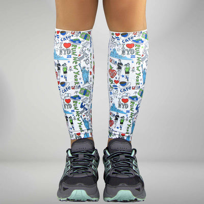 New York Doodle Compression Leg Sleeves