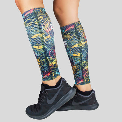 Passport Stamps Compression Leg Sleeves