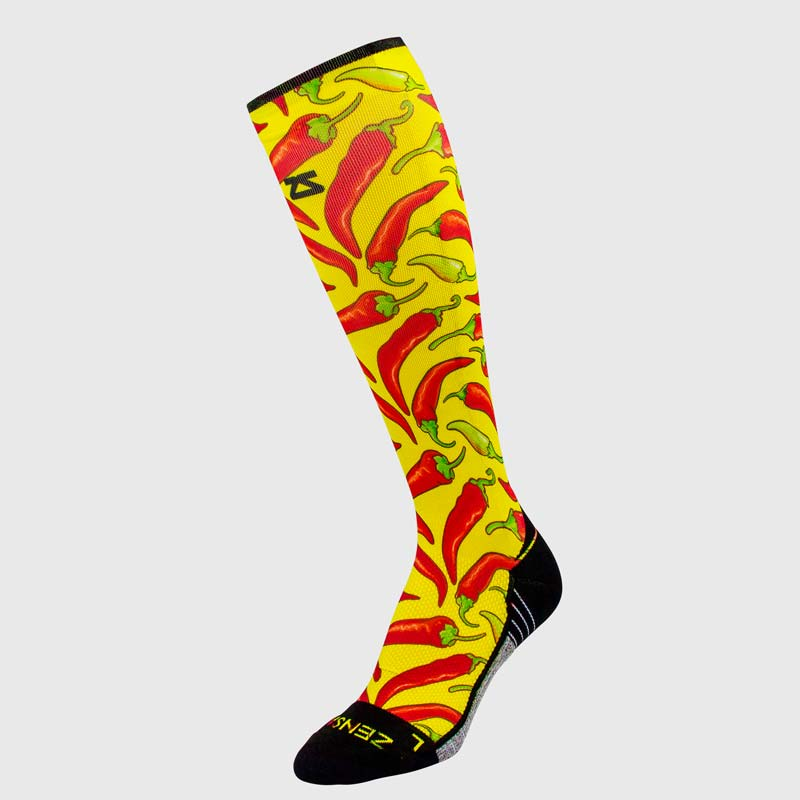 Chili Pepper Compression Socks (Knee-High)Socks - Zensah