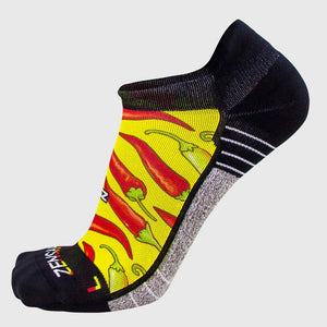 Chili Pepper Running Socks (No Show) - Zensah