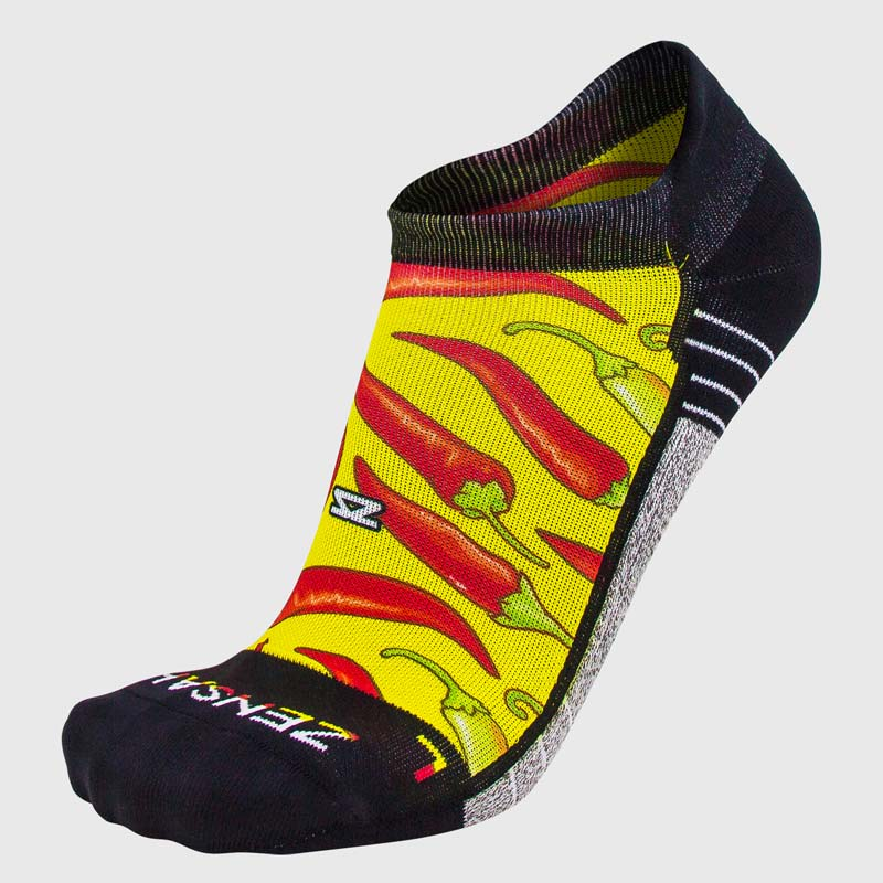 Chili Pepper Running Socks (No Show)