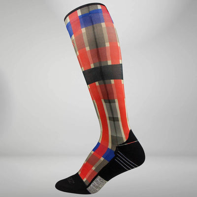 Plaid Compression Socks (Knee-High)