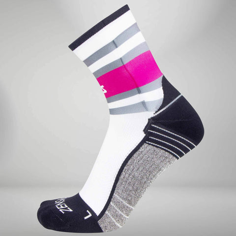 Retro Border Stripes Socks (Mini-Crew)