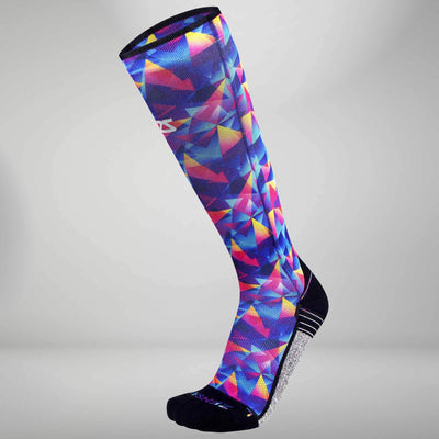 Retro Triangles Compression Socks (Knee-High)Socks - Zensah