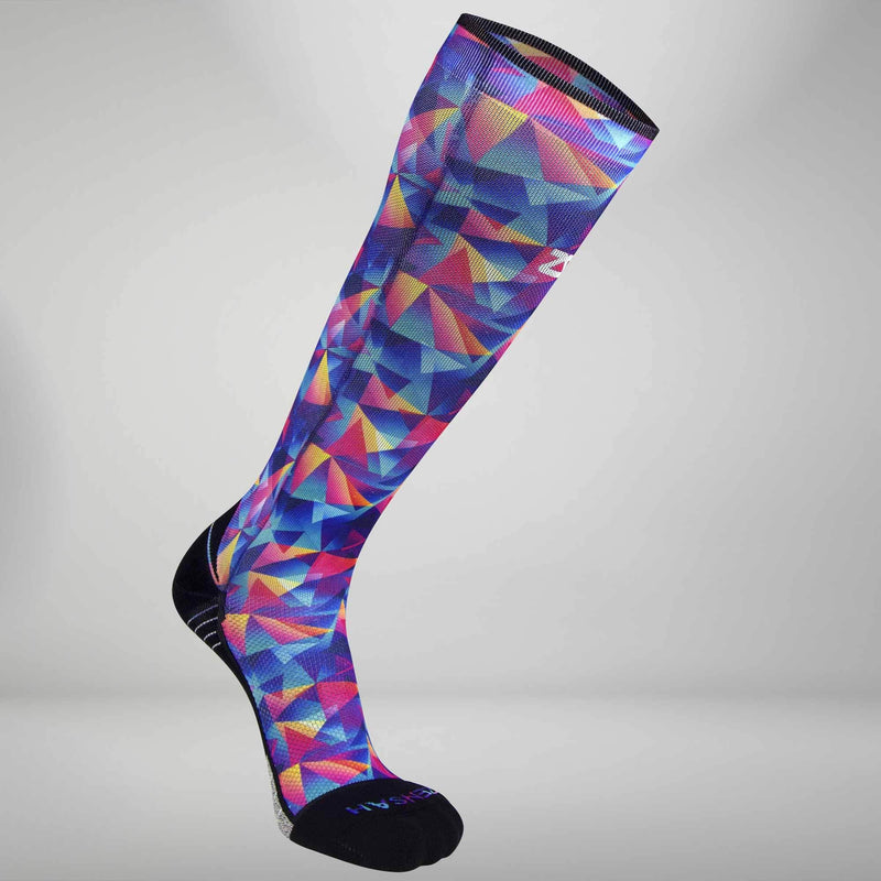 Retro Triangles Compression Socks (Knee-High)