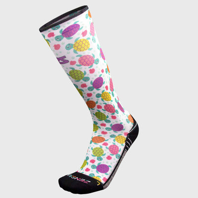 Sea Turtles Compression Socks (Knee-High)Socks - Zensah