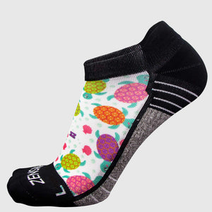 Sea Turtle Running Socks (No Show)