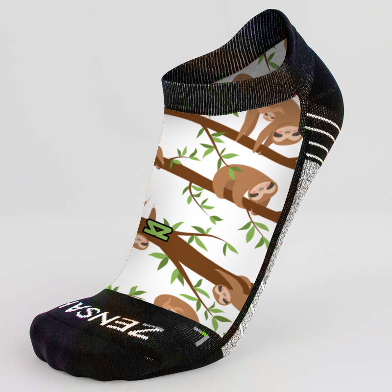 Sloths Running Socks (No Show) - Zensah