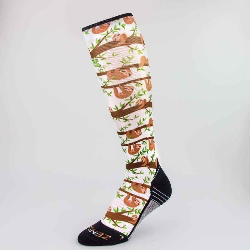Sloths Compression Socks (Knee-High)Socks - Zensah
