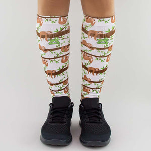Sloths Compression Leg Sleeves