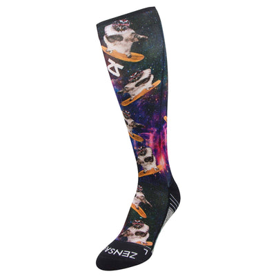 Space Cats Compression Socks (Knee-High)