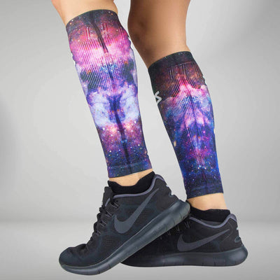 Space Nebula Compression Leg SleevesLeg Sleeves - Zensah